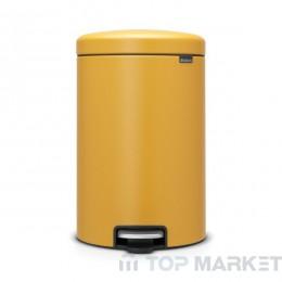 Кош с педал Brabantia NewIcon 20 L Mineral Yellow
