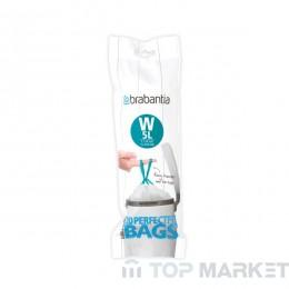Торба за кош NewIcon Brabantia, размер W, 5L, 20бр, White