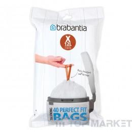 Торба за кош NewIcon/Bo Brabantia, размер Х, 10-12L, 40бр, White