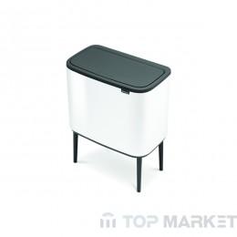 Кош Brabantia Bo Touch, 11/23 L, White