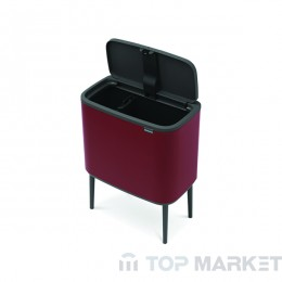 Кош Brabantia Bo Touch 11/23L Mineral Windsor Red