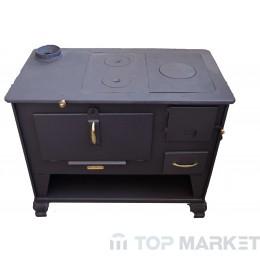Готварска печка отоплителна TECHNIKER 72583 малка с ляв комин