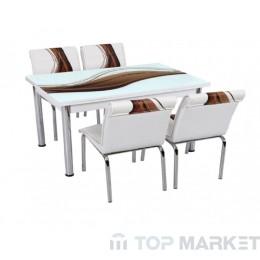 Трапезен комплект, Разтегателна маса + 4 стола Antalia I