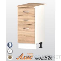 Долен шкаф с 2 чекмеджета и 1 врата АЛИС