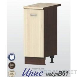 Шкаф с 1 врата и рафт Ирис В61