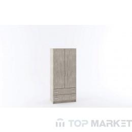 Двукрилен гардероб М 012Е