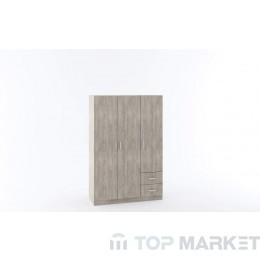 Трикрилен гардероб М 013Е
