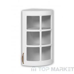 Шкаф горен В 30x72 дв заоблен витрина Michelle