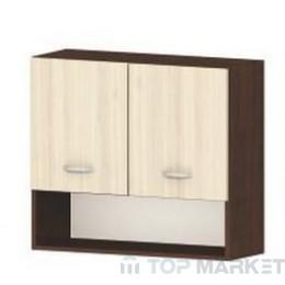 Горен шкаф с две врати и ниша Ирис G15