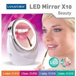 Увеличаващо огледало LANAFORM LED MIRROR X10 LA131004