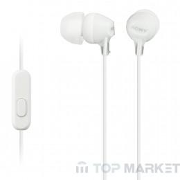 Слушалки SONY MDR EX15AP WHITE