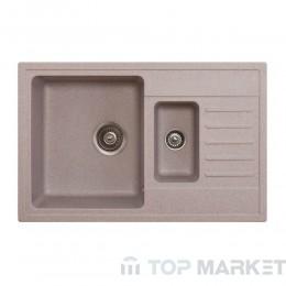 Кухненска гранитна мивка X Quadro Plus 1.5D бежова