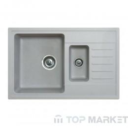 Кухненска гранитна мивка X Quadro Plus 1.5D сива
