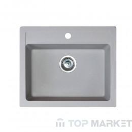 Кухненска гранитна мивка XQuadro 60 - сив