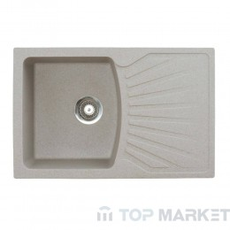 Кухненска гранитна мивка XQuadro Plus бежова