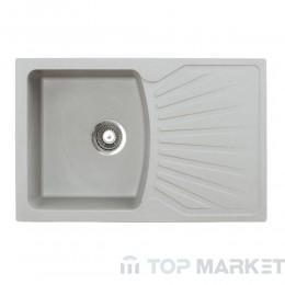 Кухненска гранитна мивка XQuadro Plus сив