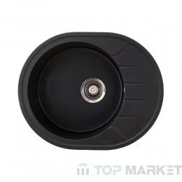 Кухненска гранитна мивка XVenera M черна