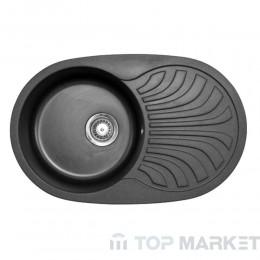 Кухненска гранитна мивка XVenera Plus черна