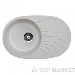 Кухненска гранитна мивка XVenera Plus сива